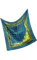 Versace Animal Print Silk Square Scarf - Lyst