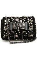 Christian Louboutin Sweet Charity Embellished Suede Bag - Lyst