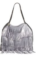 Stella McCartney Falabella Fringe Small Tote Bag Platinum - Lyst