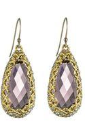 Alexis Bittar Floral Gold Imi Pink Tourmaline Tear Earrings - Lyst