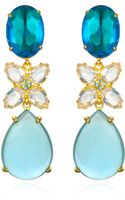 Bounkit Blue Quartz White Topaz Drop Earrings - Lyst
