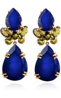 Bounkit Faceted Lapis Peridot Earrings - Lyst