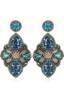 Suzanna Dai Marseilles Large Drop Earrings Navyteal - Lyst
