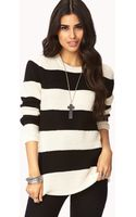 Forever 21 Striped Geo Pattern Sweater - Lyst