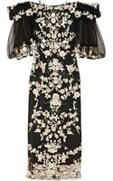 Marchesa Embroidered Tulle Dress - Lyst