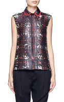 Preen By Thorton Bregazzi Robyn Printed Sleeveless Shirt - Lyst