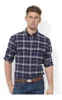 Ralph Lauren Longsleeve Plaid Herringbone Twill Workshirt - Lyst