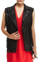 J Brand Hubbard Long Leather Vest - Lyst