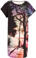 Mary Katrantzou Avra Tree Print Silk Dress - Lyst