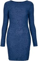 Topshop Textured Bodycon Dress - Lyst