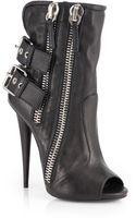 Giuseppe Zanotti Leather Peeptoe Ankle Boots - Lyst