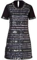 Anna Sui Geometric Dress in Black - Lyst