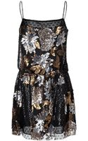 Anna Sui Nuits Dress in Black Multi - Lyst