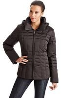 Calvin Klein Petite Quilted Down Coat - Lyst