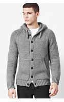 French connection Delta Chunky Cardigan - Lyst