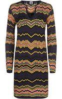 M Missoni Chevron Tunic Dress - Lyst