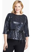 Alex Evenings Sequin Blouse - Lyst