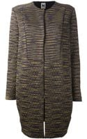 M Missoni Quilted Coat - Lyst