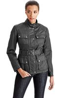 MICHAEL Michael Kors Belted Stand Collar Jacket - Lyst