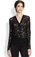 Dolce & Gabbana Lace Front Cardigan - Lyst
