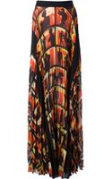 Jean Paul Gaultier Printed Maxi Skirt - Lyst