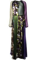 Jean Paul Gaultier Patchwork Maxi Dress - Lyst