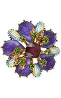 Betsey Johnson Antique Goldtone Carved Flower Bead Pin - Lyst