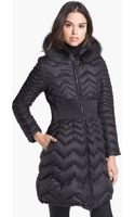 Dawn Levy Jacqueline Genuine Raccoon Fur Trim Down Coat - Lyst