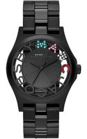 Marc By Marc Jacobs Womens Henry Skeleton Black Ionplated Stainless Steel Bracelet 40mm - Lyst