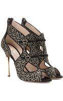 Nicholas Kirkwood Embroidered Suede Sandals - Lyst