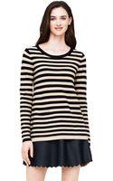 Club Monaco Alyssa Striped Merino Sweater - Lyst