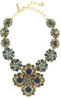 Oscar de la Renta Jeweled Necklace - Lyst