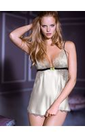 Victoria's Secret Satin Lace Babydoll - Lyst