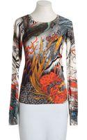 Christopher Kane Long Sleeve Sweater - Lyst