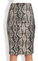 Donna Karan New York Snake Print Tube Skirt - Lyst