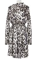 Lanvin Animal Printed Silk Dress - Lyst