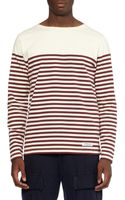 Neighborhood Boatneck Striped Cotton-jersey T-shirt - Lyst