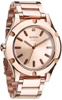 Nixon Camden Rose Goldtone Stainless Steel Watch - Lyst
