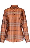 Burberry Long Sleeve Shirt - Lyst
