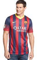 Nike Barcelona Home Replica Soccer Jersey - Lyst
