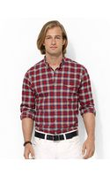 Polo Ralph Lauren Plaid Brushed Oxford Shirt - Lyst
