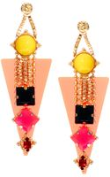 Asos Perspex Gem Drop Earrings - Lyst