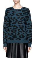A.L.C. Leopard Print Sweater - Lyst