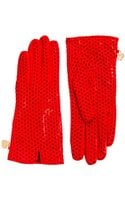 Eastpak Moschino Cheap and Chic Nappa Perforated Gloves - Lyst