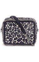 Stella McCartney Falabella Leopard Print Velvet Cross Body Bag - Lyst