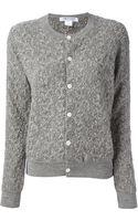 Comme Des Garçons Textured Knit Cardigan - Lyst