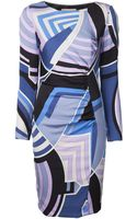 Emilio Pucci Side Ruched Dress - Lyst