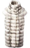 Liska Short Sleeve Fur Coat - Lyst