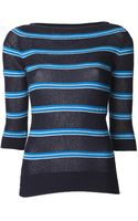 Lucien Pellat Finet Striped Cashmere Sweater - Lyst