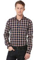 Perry Ellis Long Sleeve Pop Print Shirt - Lyst